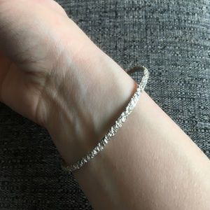 Genuine silver bangle bracelet